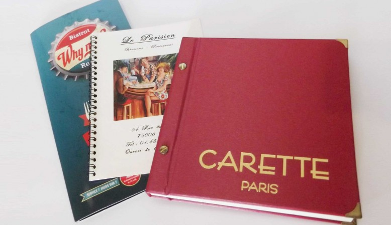 Menu et Catalogue